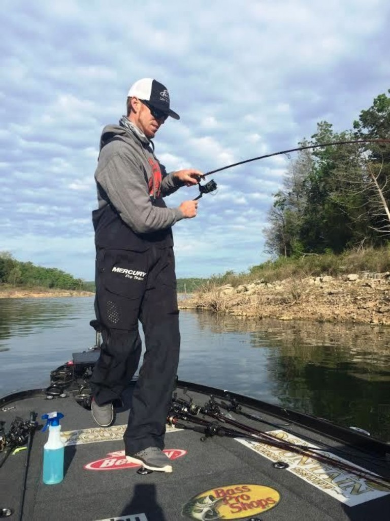Josh Bertrand quickly boats his first keeper of the day. Photo by Bassmaster Marshal Trevor Graddy